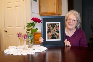 Fran With Her Mosaic