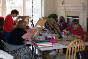 The Artists at Work