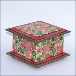 Pink & Green Leaves Box