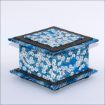 Blue & White Flowers Box