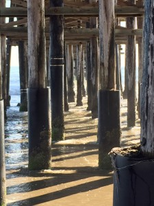 The view under the Ventura  Pier