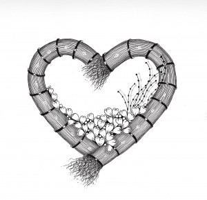 Zentangle Inspired Art - Valentines