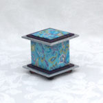 "2"" Tall Blue Paisley Box"