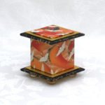 "2"" Tall Orange Crane Stream Box"