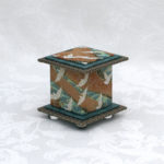 "2"" Tall Teal Crane Stream Box"