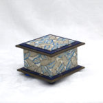 "3.5"" Blue Feather Box"