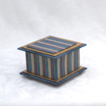 "3.5"" Blue Stripe Box"