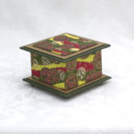 "3.5"" Lime with Magenta Flowers Box"
